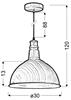 LAMPA SUFITOWA WISZĄCA CANDELLUX BARN 31-43023  CZASZA  E27 BRĄZOWY