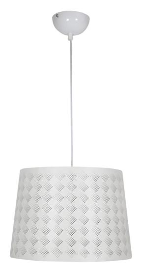 LAMPA SUFITOWA WISZĄCA CANDELLUX ORLANDO 31-49117  KRATKA  E27 BIAŁY