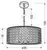 LAMPA SUFITOWA WISZĄCA CANDELLUX BRONZO 31-26644   E27 CHROMOWY