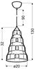 LAMPA SUFITOWA WISZĄCA CANDELLUX VESUVIO 31-58584   E27 MIEDZIANY