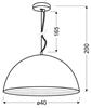 LAMPA SUFITOWA WISZĄCA CANDELLUX AMALFI 31-26392   E27 MIEDZIANY