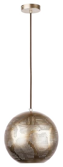 LAMPA SUFITOWA WISZĄCA CANDELLUX SFINKS 31-43276  KULA   E27 AŻUROWY JASNO BRĄZOWY