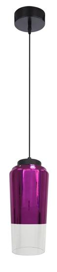 LAMPA SUFITOWA WISZĄCA CANDELLUX TUBE 31-51288   E27 FIOLETOWY