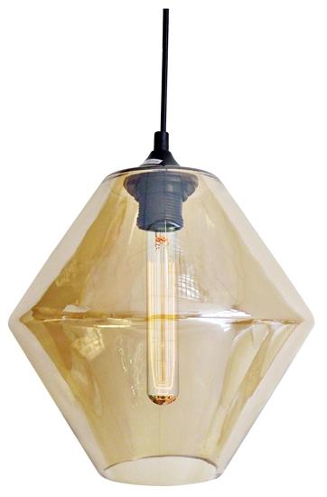 LAMPA SUFITOWA WISZĄCA CANDELLUX BREMEN 31-36636   E27 KLOSZ DYMIONY + ŻARÓWKA