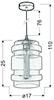 LAMPA SUFITOWA WISZĄCA CANDELLUX DECORADO 31-36643   E27 KLOSZ BURSZTYNOWY + ŻARÓWKA