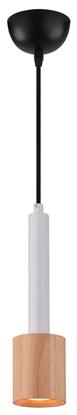 LAMPA SUFITOWA WISZĄCA CANDELLUX TANTAL 31-58751   GU10 BIAŁY + DREWNO