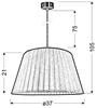 LAMPA SUFITOWA WISZĄCA CANDELLUX TIZIANO 31-27085   E27 SREBRNY