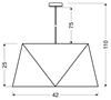 LAMPA SUFITOWA WISZĄCA CANDELLUX HEXAGEN 31-03614   E27 ZIELONY