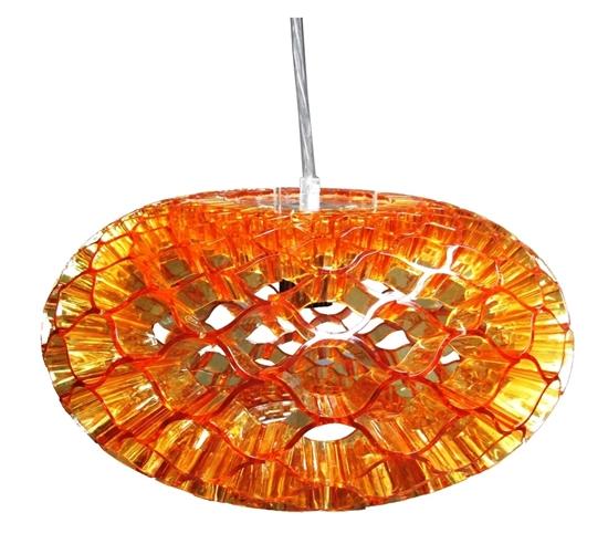 LAMPA SUFITOWA WISZĄCA CANDELLUX HONEY 31-49646  E27 BURSZTYNOWY