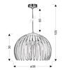 LAMPA SUFITOWA WISZĄCA CANDELLUX ABUKO 31-49783  E27 NIEBIESKI