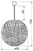 LAMPA SUFITOWA WISZĄCA CANDELLUX CARUBA 31-26913  E27 BIAŁY
