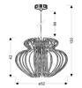 LAMPA SUFITOWA WISZĄCA CANDELLUX IMPERIA 31-36578  E27  DUŻA CZERWONA PROMOCJA
