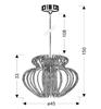 LAMPA SUFITOWA WISZĄCA CANDELLUX IMPERIA 31-36608  E27  MAŁA CZERWONA PROMOCJA