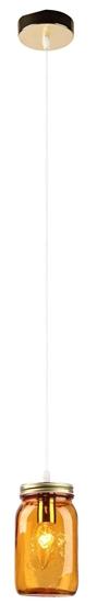 LAMPA SUFITOWA WISZĄCA CANDELLUX JARS 31-42880   E14 KLOSZ POMARAŃCZOWY