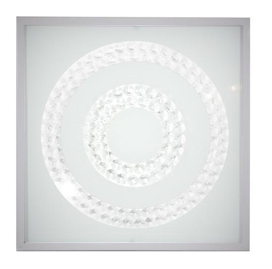 Lampa Sufitowa Candellux Lux 10-60693 Plafon 16W Led 6500K Satyna Podwójny Ring