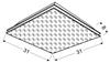 Lampa Sufitowa Candellux Mosaic 10-30610 Plafon E27