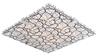 Plafon kwadratowy lampa sufitowa szklana chrom Fiera Candellux 10-30375