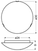 Lampa Sufitowa Candellux Mea 13-20676 Plafon E27