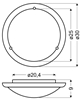 Lampa Sufitowa Candellux 1030 13-32266 Plafon Drewno Standard E27 Dąb