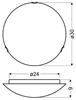 Lampa Sufitowa Candellux Duna 13-38695 Plafon Biały Uchwyt Chrom