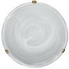 Lampa Sufitowa Candellux Duna 14-38756 Plafon Biały Uchwyt Mosiądz
