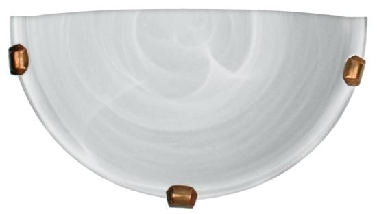 Lampa Sufitowa Candellux Duna 11-38688 Plafon1/2 Biały Uchwyt Patyna 60W