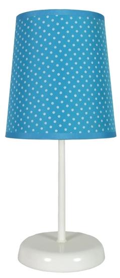 Lampa Stołowa Candellux Gala 41-98293 E14 Niebieska W Kropki