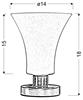 Lampa Stołowa Candellux Veneto 41-02863 E14 Nikiel Mat