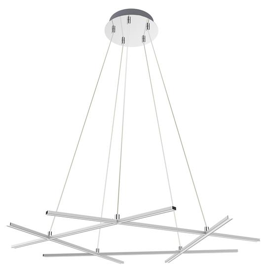 LAMPA SUFITOWA WISZĄCA CANDELLUX APETI ANDROS LED SREBRNY 4000K
