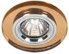 Oprawa Stropowa Oczko Candellux Ss-15 Ch/Br Mr16 Chrom Okrągła Szkło Brązowe