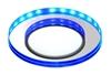 Oprawa Stropowa Oczko Candellux Ssp-23 Ch/Tr+Bl 8W Led 230V Ring Led Niebieski