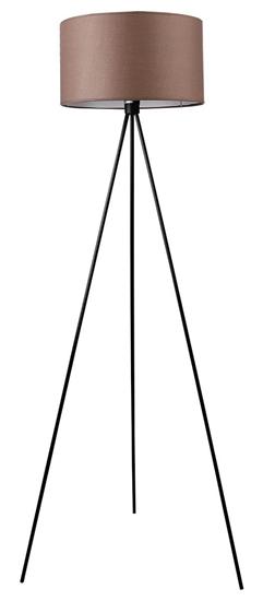 Lampa podłogowa trójnoga abażur brązowy z tkaniny Triano Candellux 51-74065