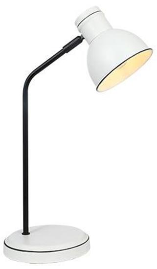 Lampka biurkowa biało-czarna prosta gabinetowa Zumba Candellux 41-72078