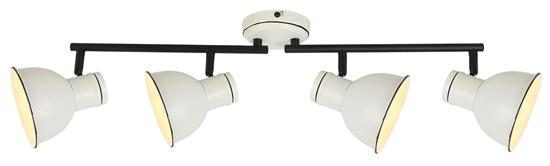 Lampa sufitowa ścienna biało-czarna 4x40W regulowana Zumba Candellux 94-72153
