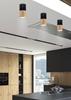 Lampa sufitowa natynkowa czarno drewniana metalowa 5,8x12cm Tuba