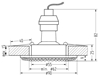 Oprawa Stropowa Candellux Soc-02 G Gu10 50W 230V Opr.Strop.Stała Okrągła Odlew