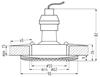 Oprawa Stropowa Candellux Soc-04 Bk Gu10 50W 230V Opr.Strop.Stała Kwadratowa Odlew