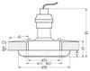 Oprawa Stropowa Candellux Soc-03 Ch Gu10 50W 230V Opr.Strop.Stała Okrągła Odlew