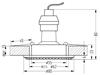 Oprawa Stropowa Candellux Soc-01 Bk Gu10 50W 230V Opr.Strop.Stała Okrągła Odlew