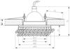Oprawa Stropowa Candellux Sk-78 Ch/Am Mr16 1X50W Chrom Opr. Strop. Dekoracyjna Bursztyn