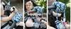 Mom's Care Sensoryczna spiralka do wózka SzopHop przytulanka Niebieska 0+