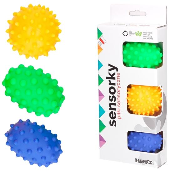 Sensorky  Piłeczki sensoryczne edukacyjne 3 szt 0+