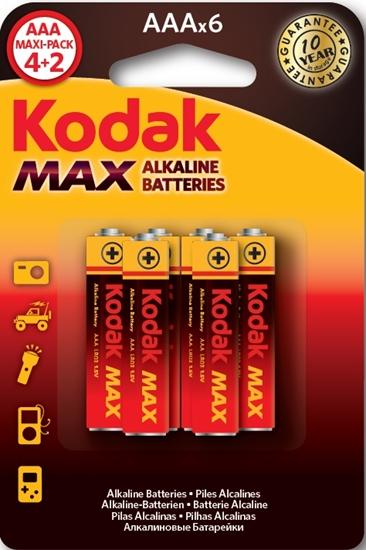 A.KODAK BATERIA LR03 MAX K3A-(4+2) - BL6