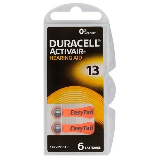 DURACELL BATERIA DA 13 EASYTAB BL6 vat23%