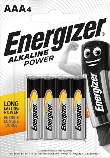 ENERGIZER BATERIA  ALKALINE POWER AAA LR03/bl4