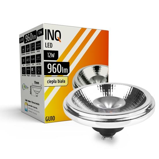 LAMPA LED  AR111  GU10  12W 830 230V 30^ 960lm srebrny INQ