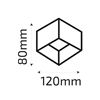 Oprawa OZZO n/t Axel111S-BL AR111 GU10 kwadratowa czarna