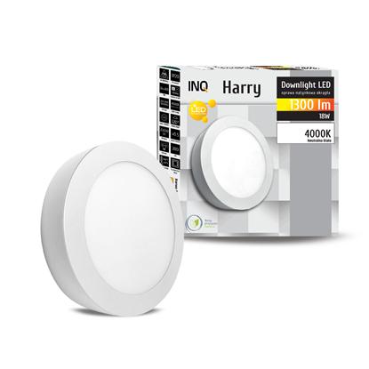 OPRAWA LED n/t DOWNLIGHT HARRY okrągła 18W 1300lm 840 IP20 INQ