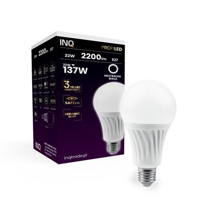 LAMPA  A80 E27 LED PROFI 22 BULB 2200lm 4000K ceramika INQ