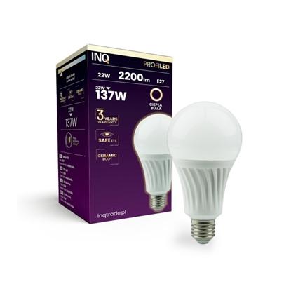 LAMPA  A80 E27 LED PROFI 22 BULB 2200lm 3000K ceramika INQ